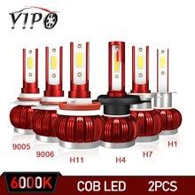 цена на h7 led bulb h4 headlight h11 9005 9006 hb3 hb4 auto cob chip lampada headlamp Hi/Lo Beam Car Styling Car Light 72w 12V 6000K h4