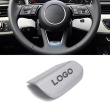 Zinc Alloy Metal Car Steering Wheel Sticker Cover For Audi S line A3 A6 C6 A4L Q3 Q5 Q7 Q2 TT Car Interior Stickers Accessories