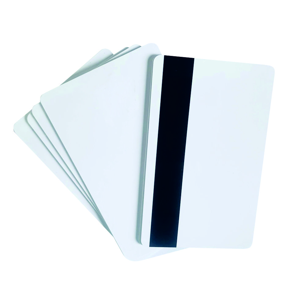 10 stücke PVC Leere Weiße Kunststoff Karten 30Mil Loco karte Mag Streifen druckbare für karte drucker CR80