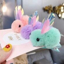 Children 's Snow Yarn Rabbit Hair Clip Cute Princess Hairpin Girl Baby Headdress