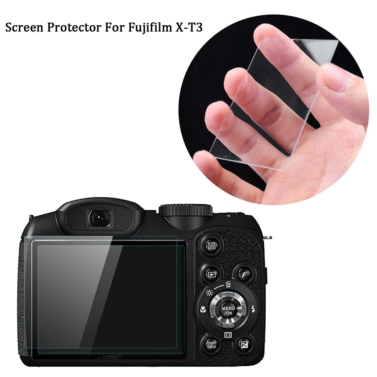 Hot 2PCS Protective Screen Protector Foils For Fujifilm X-T3 Fuji XT3 X-t3 Mirrorless Digital Camera Tempered Glass Anti-Scrac
