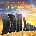 Солнечная панель батарея 12 В 150 Вт 100 Вт 50 Вт 20 Вт 10 Вт Зарядное устройство для телефона для автомобиля RV лодки фургона яхты Водонепроницаемая...