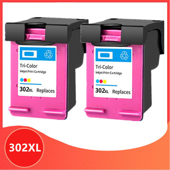 2 Color 302XL Remanufactured cartridge for HP 302 for HP302 XL Ink Cartridge for Deskjet 1110 1111 1112 2130 2131 printer