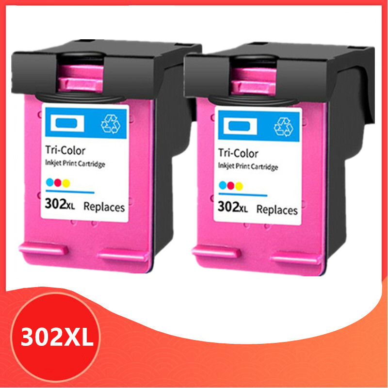 2 Color 302XL Remanufactured cartridge for <font><b>HP</b></font> 302 for HP302 XL <font><b>Ink</b></font> Cartridge for <font><b>Deskjet</b></font> 1110 1111 1112 <font><b>2130</b></font> 2131 <font><b>printer</b></font> image