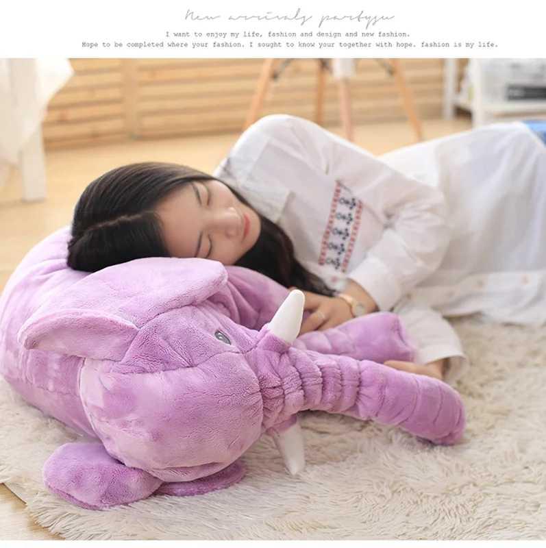 40 センチメートル/60 センチメートル象身長 large ぬいぐるみ玩具子供睡眠バッククッションかわいいぬいぐるみ枕ベビー同行人形クリスマス gi