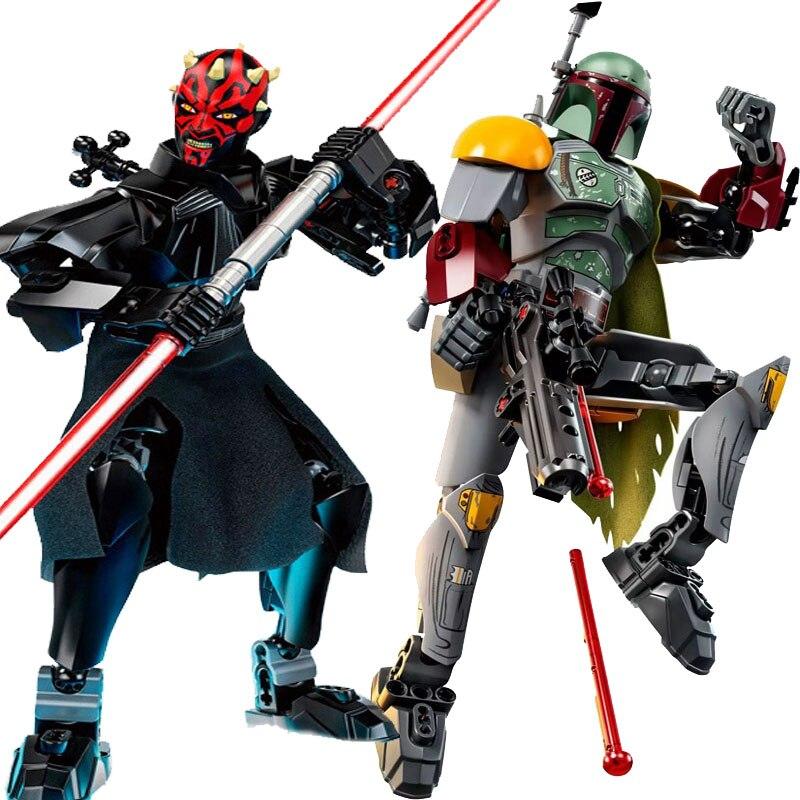Star Wars Boba Fett Darth Maul Kylo Stormtrooper Phasma Ren Rey Vader Model Assemble Figure Construction Toys For Children 1