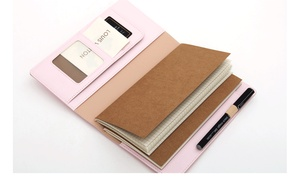 Image 3 - Lovely Diary Gift to Girlfrend, TN Standard Journal Travler Notebook, Spiral PU Thick Pocket Size Planner Diary