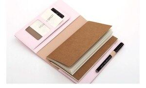 Image 3 - Piękny pamiętnik prezent dla Girlfrend, TN standardowy dziennik Travler Notebook, spiralny PU gruby kieszonkowy rozmiar dziennik z terminarzem