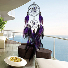 Purely Handmade  Feathers Dream Catcher Iron ring+Pheasant Hair+Painted Wooden Beads Wedding Home Decoration Auto Pendant