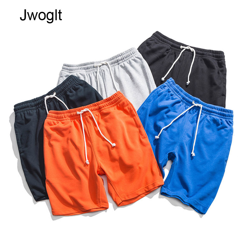 Summer New Cotton Drawstring Waist Men's Loose-Fit Casual Shorts Black Gray Blue Harem Short Joggers Drop Shipping