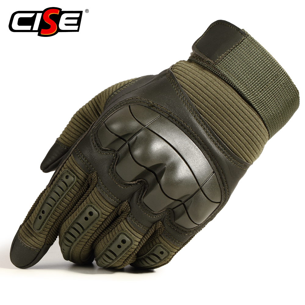 Image 2 - Touch Screen PU Leather Motorcycle Gloves Motocross Protective  Gear Motorbike Racing Hard Knuckle Full Finger Glove Men WomenGloves    -