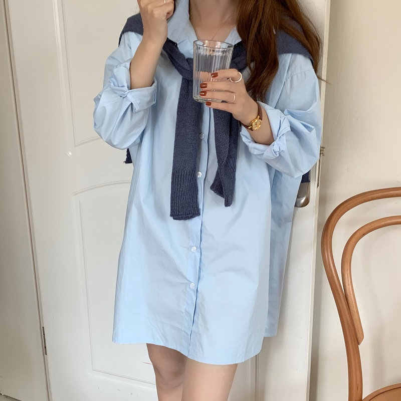 HziriP Lazy Style Solid Straight Feminine Loose 2020 Women Casual Chic Shirt Dresses Sexy Office Lady Elegant Mini Dresses