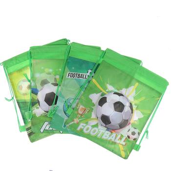 4style Cartoon plecak ze sznurkiem nietkane materiały piłka nożna ściągana sznurkiem na prezent torby dla dzieci chłopcy plecak buty torby na ubrania tanie i dobre opinie ZTBBAO Włókniny tkaniny Drawstring backpack