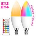 E14 Светодиодная лампа в форме свечи Цвет Крытый неоновая вывеска для организаций и магазинов светильник лампа RGB ленты с контроллером свети...
