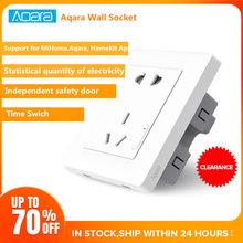 Aqara Smart Wall Socket ZigBee Wifi Remotel Control Wireless Switch Work For Mi Smart Home Kits APP(China)