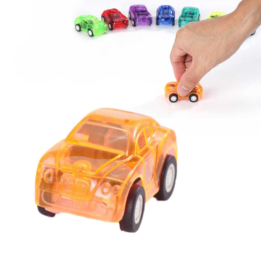 6 ชิ้น/เซ็ตเด็กMINIดึงกลับรถของเล่นรถก่อสร้างรถบรรทุกดับเพลิงชุดเด็กวันเกิดวันหยุดของขวัญ