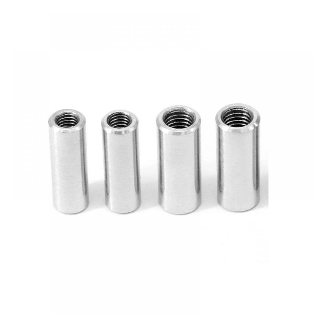 1 pc M8 Round Studding Connector Bolts Nuts A2 Stainless Steel All Thread Sleeve Rod Bar Tube 20 25 30 35mm length