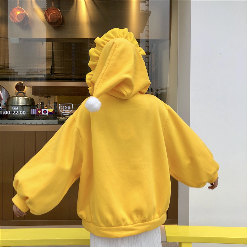 Cute Hoodies Women Christmas Hoodies Kawaii Hairball Hooded Lantern Sleeve Loose Fashion Pullover Casual Sweet Sweatshirt Girls in Hoodies amp Sweatshirts from Women 39 s Clothing