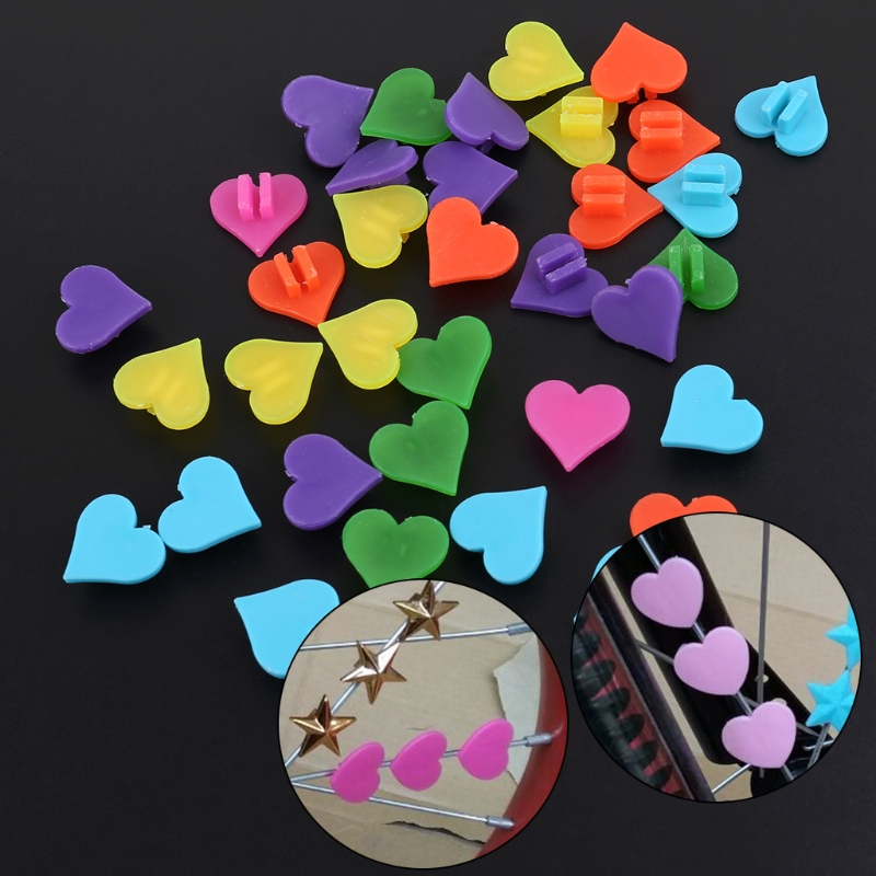 1 Bag Plastic Multi-color Bike Cycle Wheel Spoke Colorful Heart Shape Beads Children Bicycle Decors