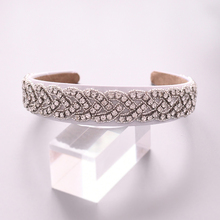 TRiXY S216-FG Charm Crystal Baroque Headband Silver Metal Crown Tiara Hairbands For Women Wedding Hair Jewelry Gifts Headpieces