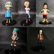 Anime One Piece Sanji Trafalgar Law Spandam Jyabura Jewelry Bonney Boa Hancock PVC Action Figure Collectible Model doll toy цена 2017