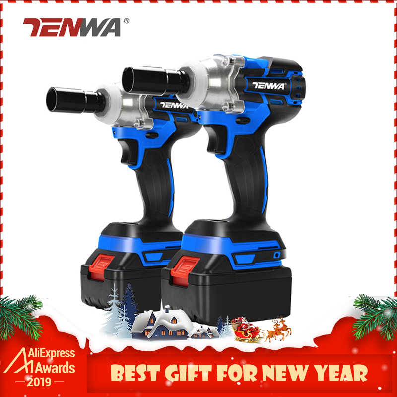 TENWA Brushless Electric Wrench 21V Impact Wrench Socket   4000mAh Li Battery Hand Drill Installation Power Tools