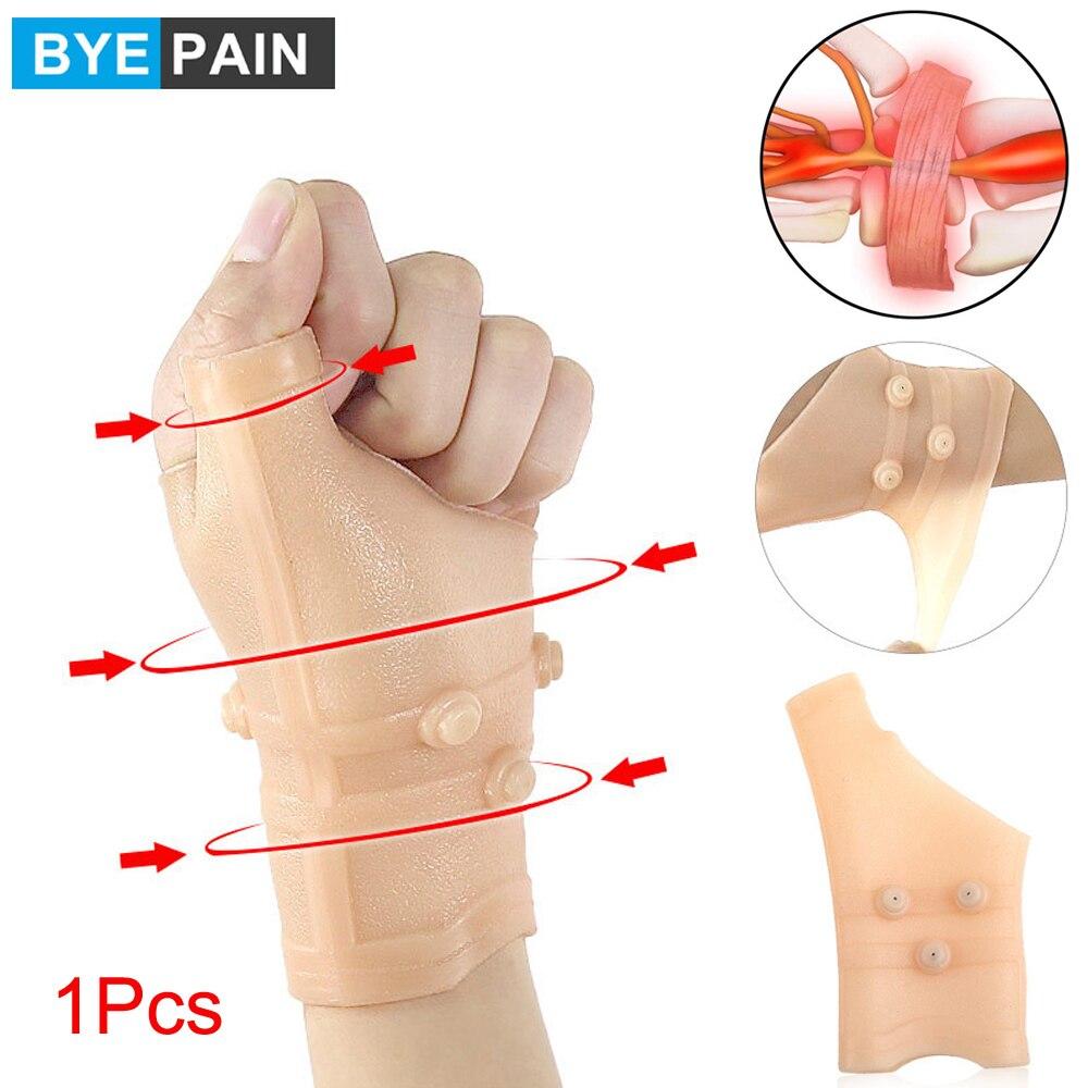 1 шт. силиконовый браслет на запястье с магнитами, стабилизирующие перчатки для поддержки большого пальца, для снятия боли при артрите на па...