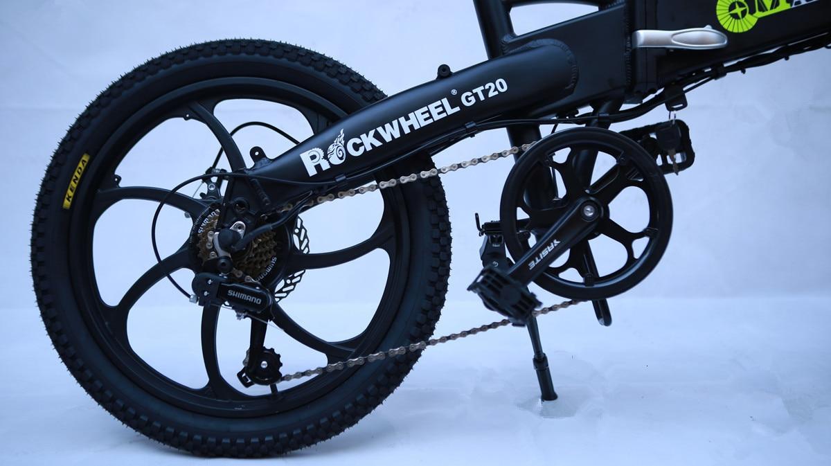Stock & Russia Europe 20'' Electric Folding Bike 48V Motor 7 Speed gears E-Bike Front Rear Disc Brake Magnesium Alloy Wheel 5