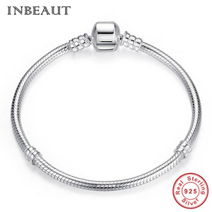 Image 5 - Оригинальный браслет, подходит для фирменного шарма из стерлингового серебра 925 пробы, CZ, луна, сердце, дерево, дьявол, глаз, змеиная цепочка, собака, Сова, бусины, банджи для женщин
