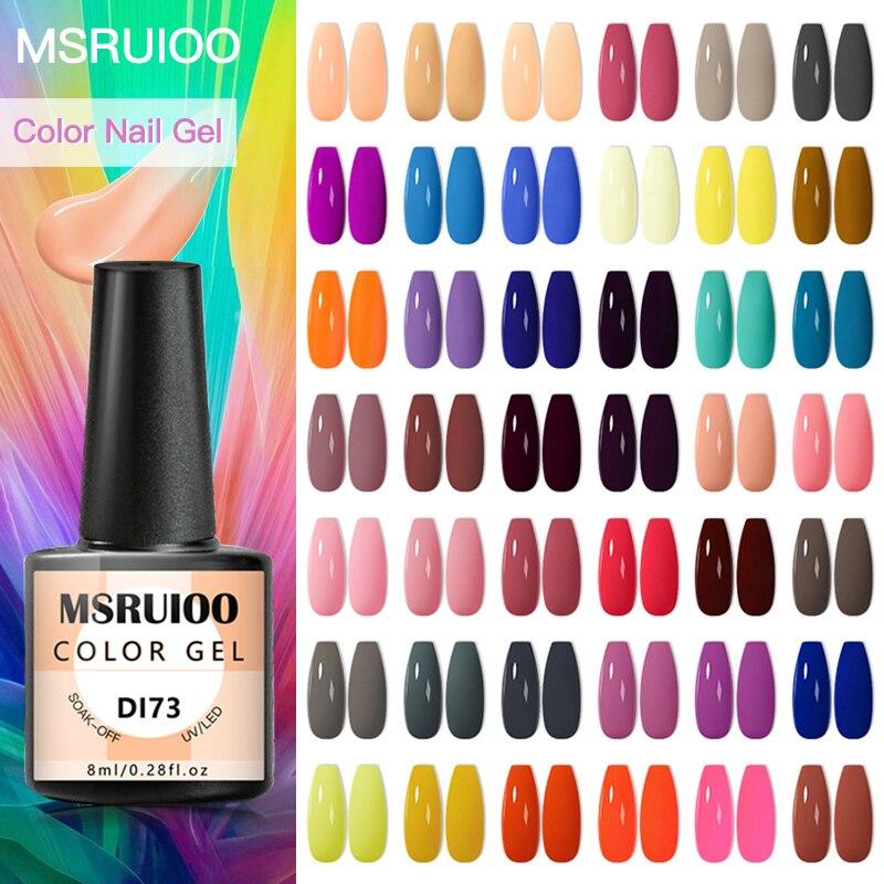 Mruioo – vernis à ongles de printemps, 8ml, hybride, Semi-Permanent, besoin d'uv, LED, couche de Base et de finition