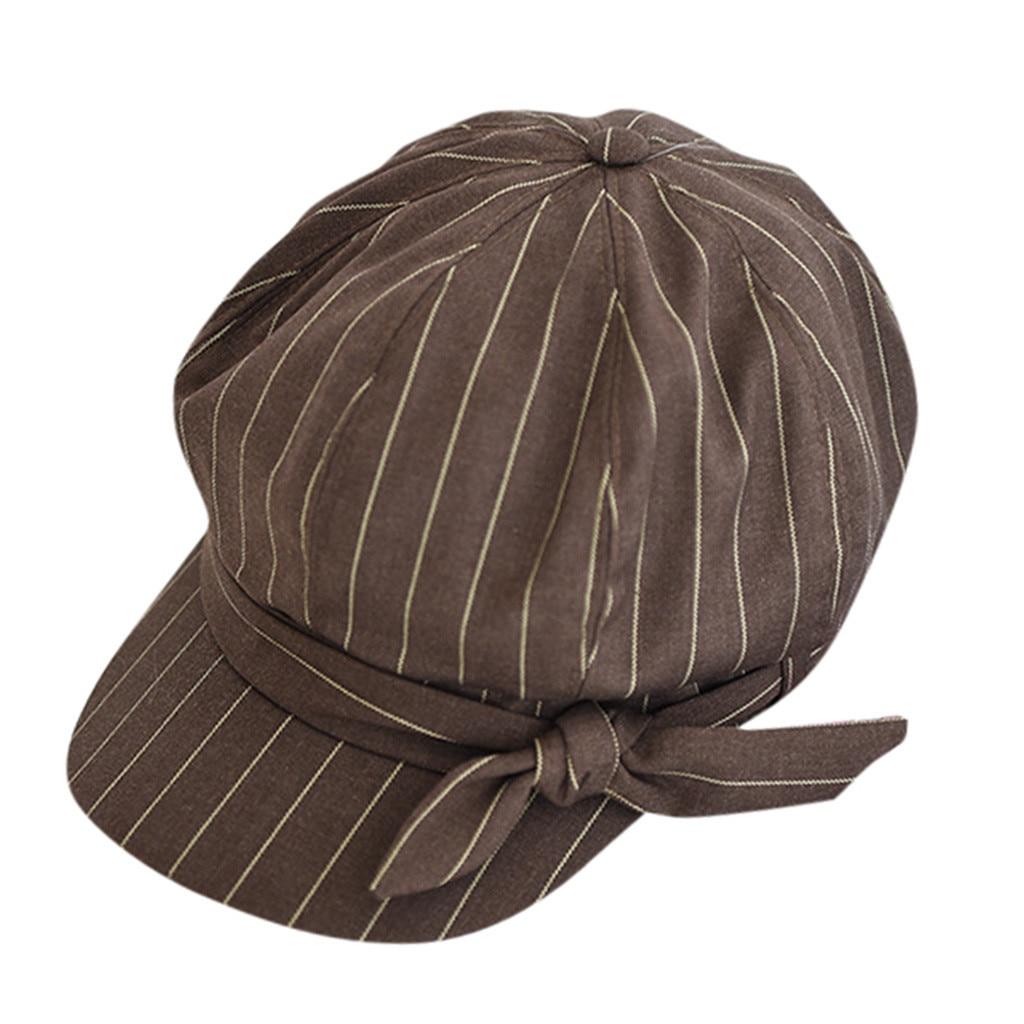Корейский винтажный берет для девочек, Вельветовая женская шапка, Повседневная однотонная хлопковая весенне-летняя розовая британская шляпка - Цвет: Khaki