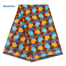 2019 New Vintage Prints Polyester Ankara Fabric Wax binta Real Binta real African for Dress 6yards FP6110
