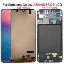 Para samsung galaxy a50 a505f/ds a505f a505fd a505a lcd screen display toque digitador assembléia para samsung a505 lcd