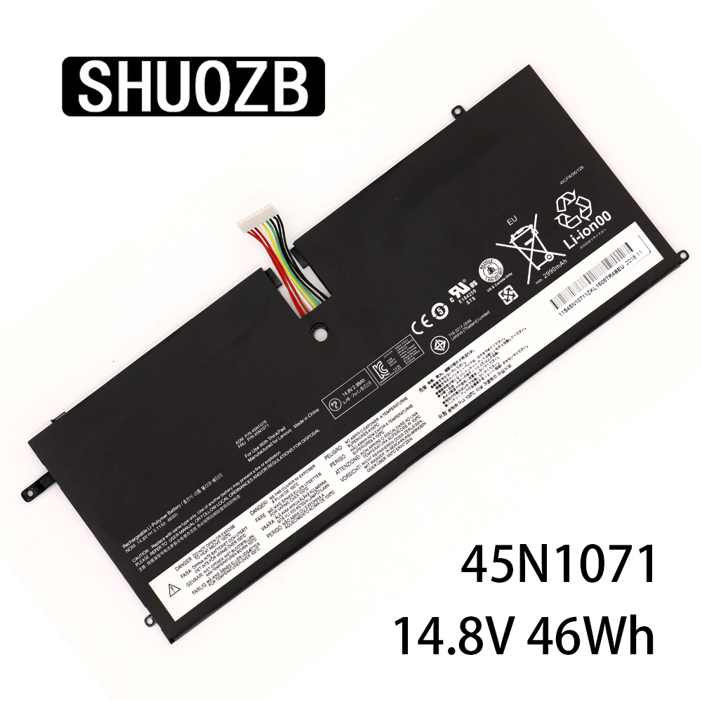 Laptop Battery 45N1071 45N1070  For Lenovo ThinkPad X1 Carbon Series 3444 3448 3460 Series 4ICP4/56/128 14.8V 46Wh SHUOZB