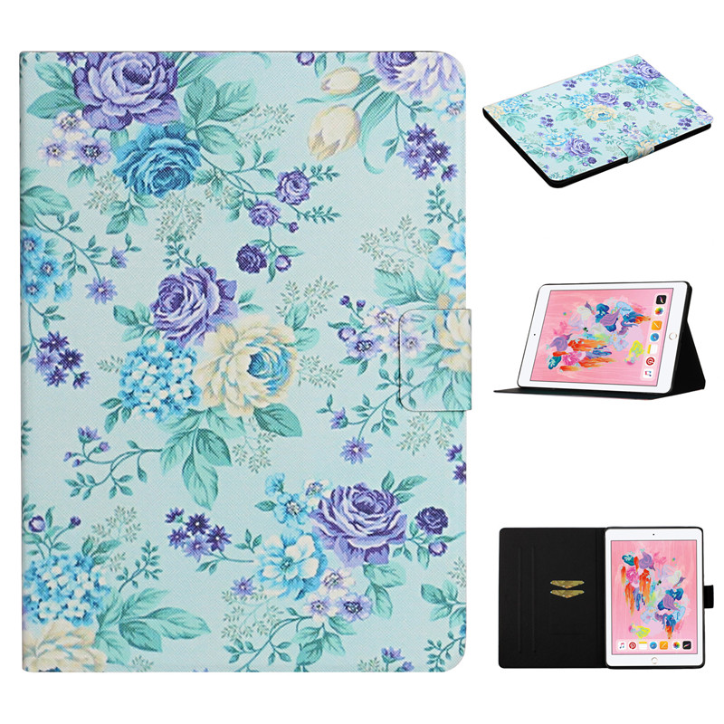 Funda iPad Flower Case Cover iPad 2 Painted 7th for Apple 10 for Case 2019 Generation