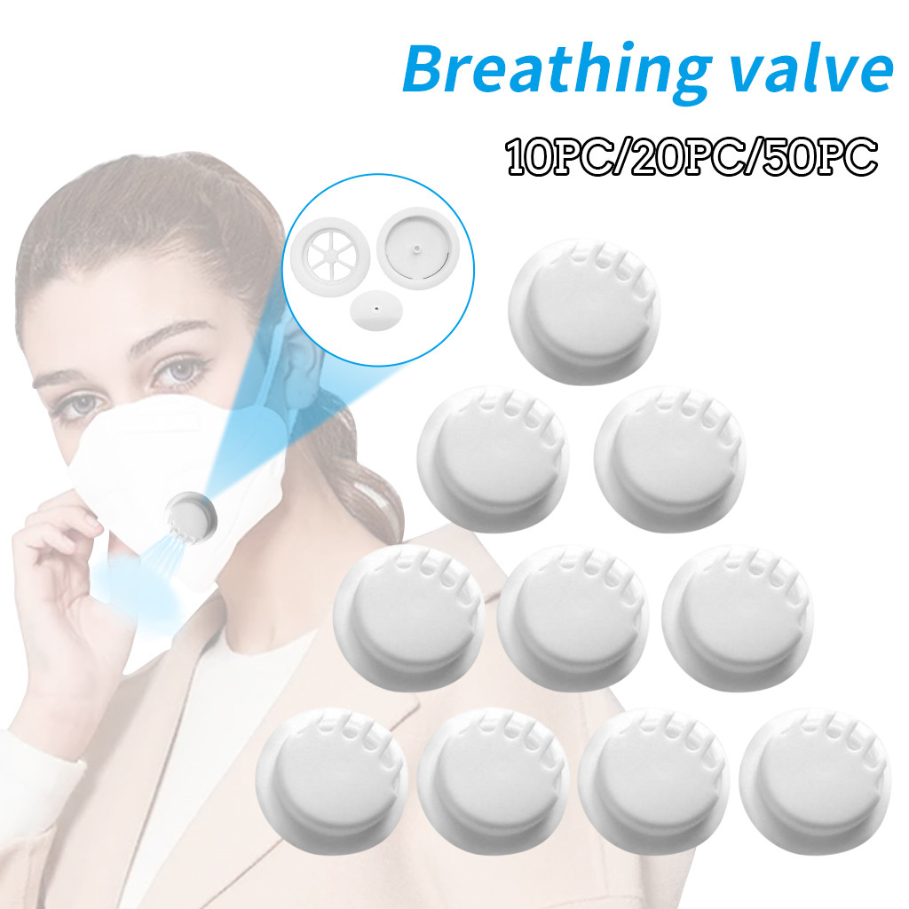 50pc White Outdoor Anti-dust Face Mouth Filter Air Breathing Valves Replacements Anti Haze Air Breathing Valves Accessories