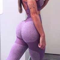 Cintura alta calças de yoga sem costura mulheres leggings esportes fitness sólido treino atlético calças compridas ginásio correndo calças meninas