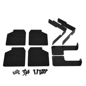 Image 5 - RC TRX4 RC سيارة الجبهة الخلفية الطين اللوحات مصدات مطاطية واقيات الطين لملحقات Traxxas Trx 4 trx4