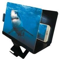 Soporte para teléfono de escritorio Universal, lupa de pantalla de teléfono móvil, amplificador de vídeo de aumento 3D, soporte de proyector