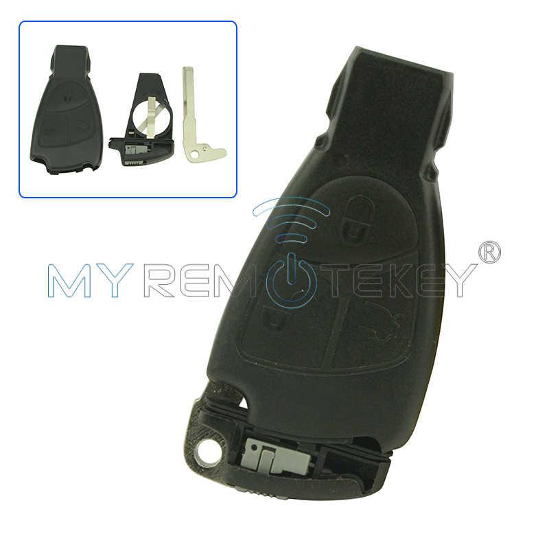 Корпус умного ключа оболочка Крышка 3 кнопки включает вставной ключ и держатель батареи европейская модель E Класс C класс для Mercedes remtekey