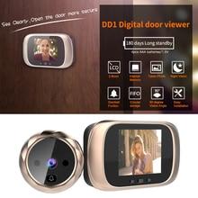 2.8inch LCD Color Screen Digital Doorbell  Degree Doorbell Digital Doorbell 0.3MP Electronic Peephole Camera Viewer Door Bell