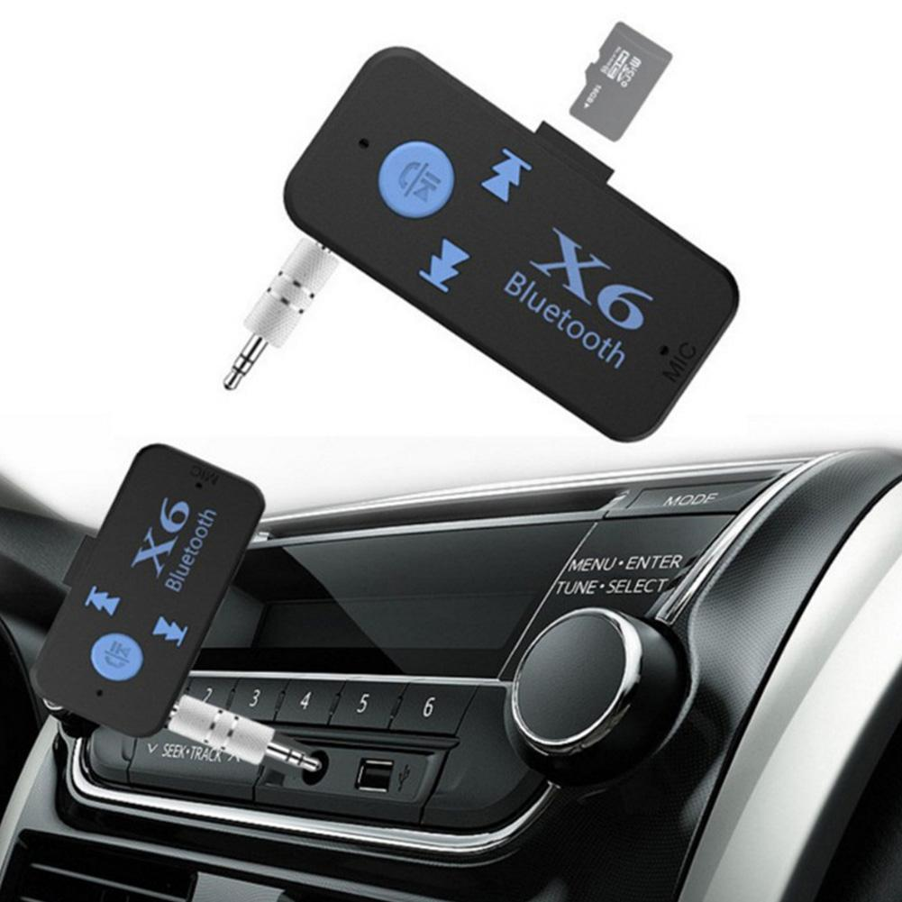 3 In 1 Bluetooth Car Kit V4.1 Bluetooth Receiver 3.5mm Aux TF Card Reader Handsfree Call Stereo Audio Receiver Music Adapter