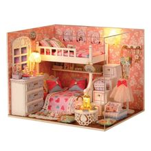 DIY Cabin Room Model Children Handmade Toy Kids Boys Girls Birthday Gifts Educational Toys New E65D new electric robot spider model toy diy educational 3d toys assembles toys kits for kids christmas birthday gifts