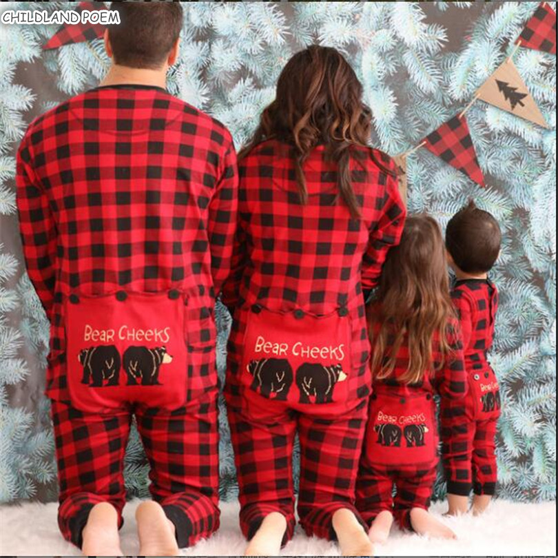 Family Matching Christmas <font><b>Pajamas</b></font> Plaid Family Look Mommy <font><b>And</b></font> Me Sleepwear Clothes <font><b>Mother</b></font> <font><b>Daughter</b></font> Father Son Nigtweear Pyjamas image