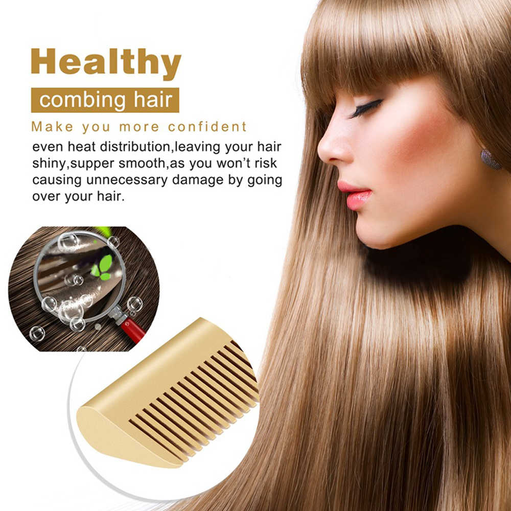 Escova de alisamento de cabelo 2 em 1, pente de aquecimento alisador de cabelo multifuncional elétrico 2 em 1 para cabelos secos e molhados