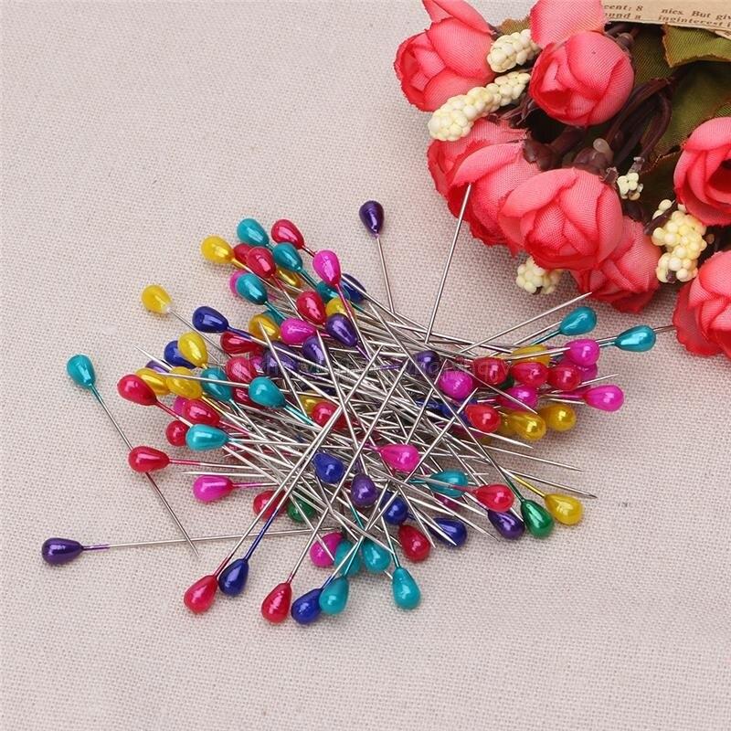 Удлиненные жемчужные булавки для шитья Свадебный корсаж флористы Швейные DIY инструмент N02 19 Прямая поставка