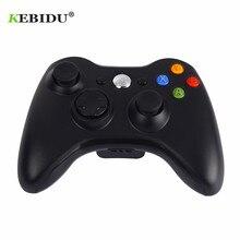 Kebidu 2.4 ghz gamepad sem fio premium qualidade fino preto joypad controlador jogo joystick almofada para xbox 360 jogo