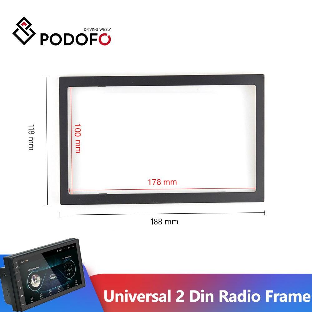 Podofo 178*100mm uniwersalny 2 Din Radio rama samochodu odtwarzacz multimedialny z tworzywa sztucznego ramy