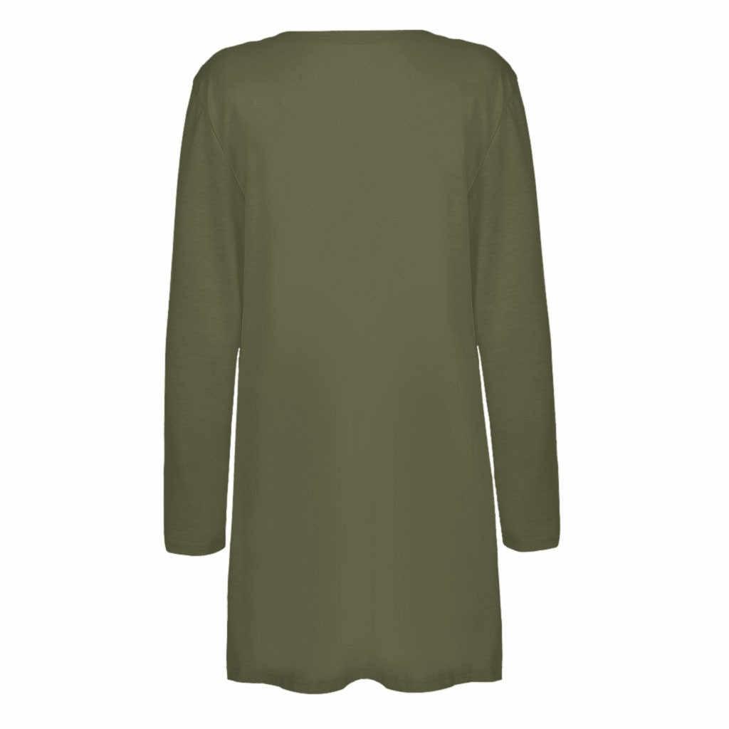니트 스웨터 여성 숙녀 솔리드 v-목 카디건 긴 소매 코트 주머니 겉옷 당겨 여성 nouveaute 2019 겨울