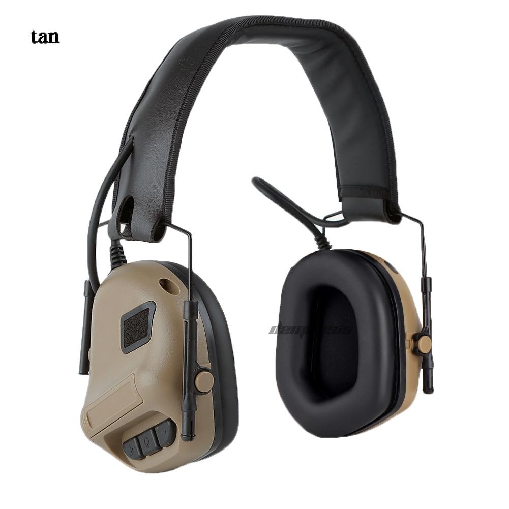 proteção auditiva caça tático heaset earmuff anti-ruído
